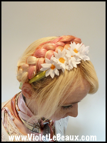How To Make A Felt Daisy Headband