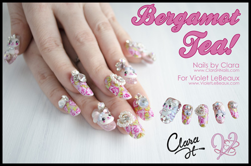 Awesome bergamot 3d japanese style nail art by clara h nails clara h5447 japanese nail art prinsesfo Image collections