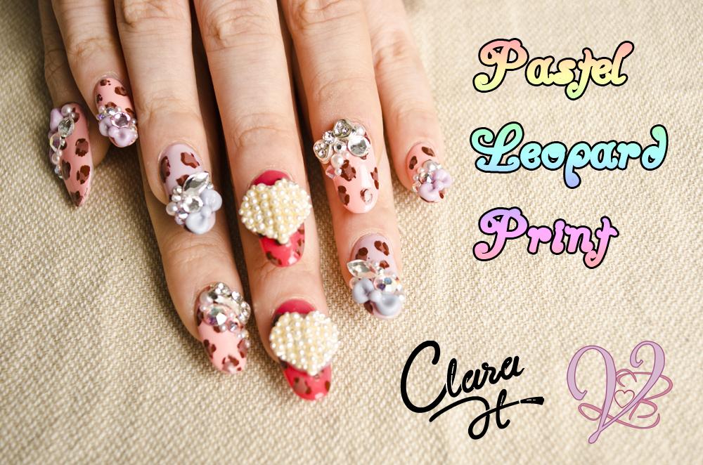 Japanese 3D Nail Art -Pastel Leopard Print -Clara H | Violet LeBeaux ...