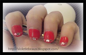 Nail Art Style- Red Hearts