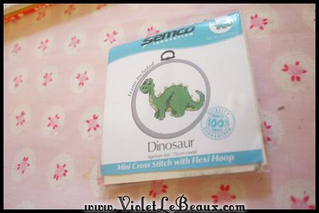 Dinosaur Cross Stitch – Quick Craft