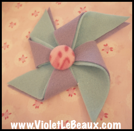How To Make A Felt Pinwheel Craft Tutorial