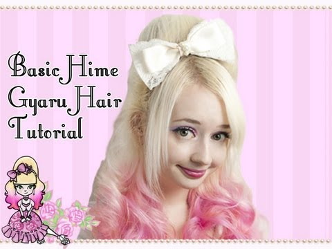 How To Do A Hime Gyaru Hairstyle Pouf Using a Rat Tutorial Video