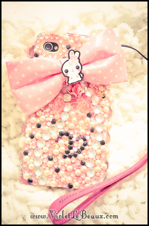 Pink Bling Decoden iPhone 4 Case
