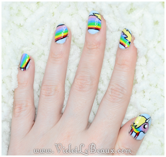 How To Do Lady Rainicorn Nail Art – Adventure Time Tutorial