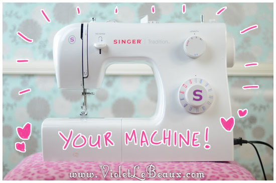 Getting To KnowThreading Your Sewing Machine Sew Fun Violet Interesting How To Set Up A Sewing Machine