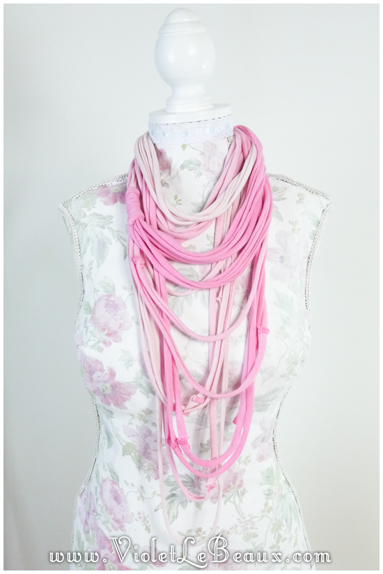 How To Make A Simple Tshirt Necklace/Scarf