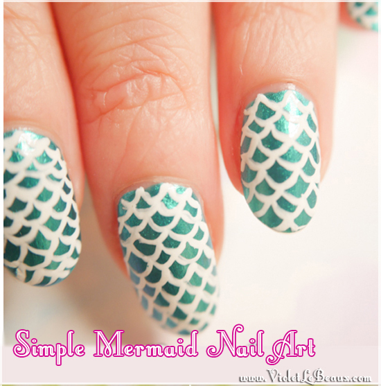 How To Do Simple Mermaid Nail Art – Tutorial