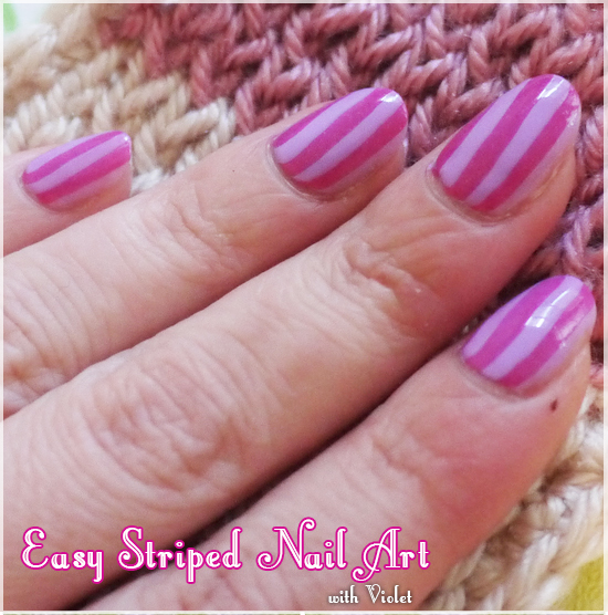 Easy Striped Nail Art Tutorial