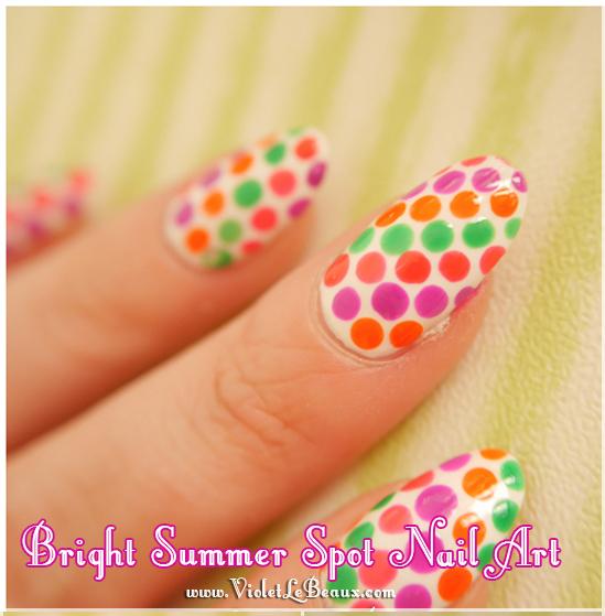 Bright Summer Spots Nail Art Tutorial