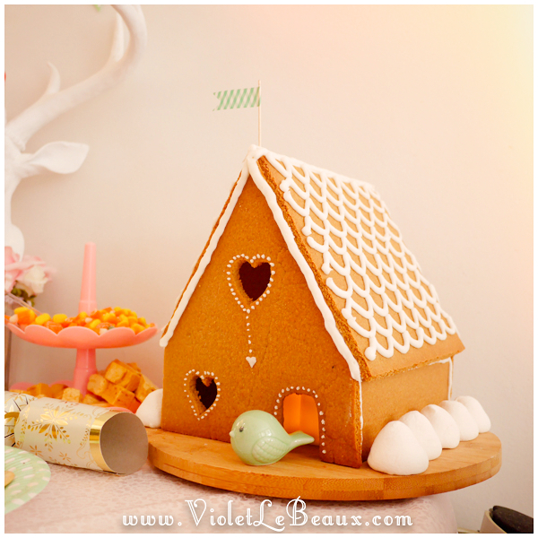 Violet and Jimmy's Gingerbread house
