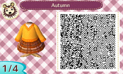 Animal Crossing New Leaf QR: Autumn Set