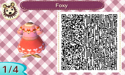 ACNL QR – Fox Sweater Set