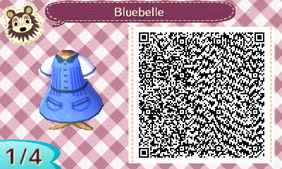 ACNL QR – Bluebelle Dress